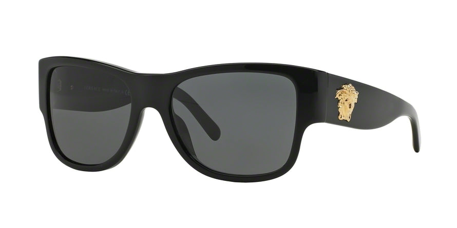Versace VE4275 Square Sunglasses  GB1/87-BLACK 58-18-140 - Color Map black