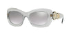 Versace VE4328 Rectangle Sunglasses  52066V-TRANSPARENT GREY 54-20-140 - Color Map grey