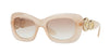Versace VE4328 Rectangle Sunglasses  521313-OPAL POWDER 54-20-140 - Color Map pink