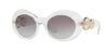 Versace VE4329 Oval Sunglasses  148/11-CRYSTAL 53-20-140 - Color Map clear