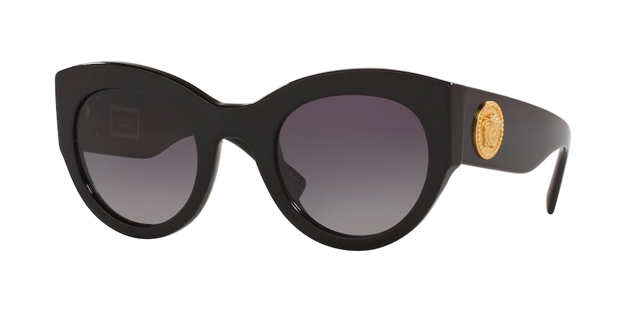 Versace VE4353 Cat Eye Sunglasses  GB1/T3-BLACK 51-26-140 - Color Map black