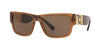 Versace VE4369 Pillow Sunglasses  50283G-TRANSPARENT BROWN 58-17-140 - Color Map brown