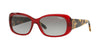 Vogue VO2606S Rectangle Sunglasses  194711-TRANSPARENT RED 55-15-135 - Color Map bordeaux