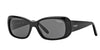 Vogue VO2606S Rectangle Sunglasses  W44/87-BLACK 52-15-135 - Color Map black
