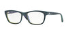 Vogue VO2767 Rectangle Eyeglasses  1989-TOP PETROLEUM GREEN/VIOLET TR 52-17-140 - Color Map green