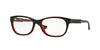Vogue VO2911 Pillow Eyeglasses  2312-BROWN/ORANGE/TR RED 53-17-140 - Color Map brown