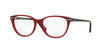 Vogue VO2937 Oval Eyeglasses  2391-RED RASPBERRY 53-17-140 - Color Map red