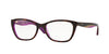 Vogue VO2961F Cat Eye Eyeglasses  2019-HAVANA/LILAC/TR VIOLET 53-17-140 - Color Map havana