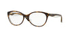 Vogue VO2962 Oval Eyeglasses  1916-TOP HAVANA/TRANSPARENT 53-17-135 - Color Map havana