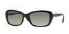 Vogue VO2964SB Rectangle Sunglasses  W44/11-BLACK 55-17-135 - Color Map black