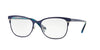 Vogue VO3963 Square Eyeglasses  982S-MATTE BRUSHED BLUE 53-18-140 - Color Map blue
