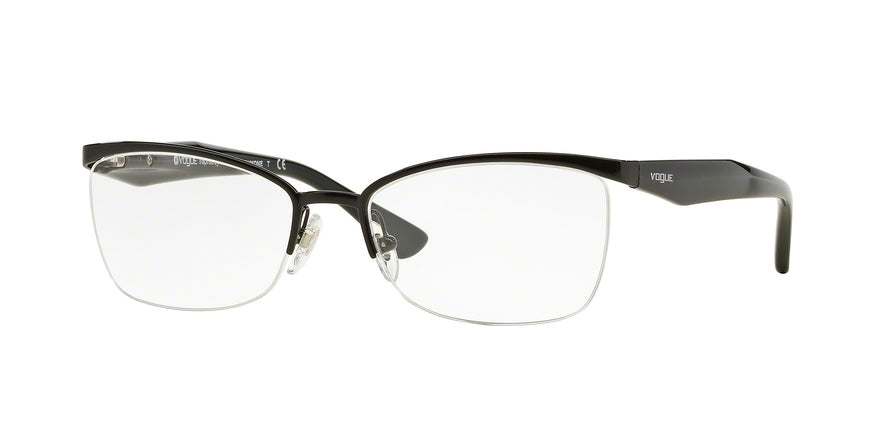 Vogue VO3981 Butterfly Eyeglasses  352-BLACK 54-17-135 - Color Map black