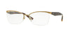 Vogue VO3981 Butterfly Eyeglasses  848-BRUSHED PALE GOLD 52-17-135 - Color Map gold