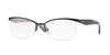 Vogue VO3981 Butterfly Eyeglasses  979S-MATTE BLUE 54-17-135 - Color Map blue