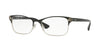 Vogue VO4009 Pillow Eyeglasses  352-BLACK/SILVER 52-18-140 - Color Map black