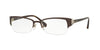 Vogue VO4014B Oval Eyeglasses  934-BROWN/PALE GOLD 50-18-135 - Color Map brown