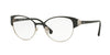 Vogue VO4015B Phantos Eyeglasses  352-BLACK/SILVER 53-18-135 - Color Map black