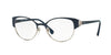 Vogue VO4015B Phantos Eyeglasses  5009-BLUE/SILVER 53-18-135 - Color Map blue