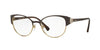 Vogue VO4015B Phantos Eyeglasses  997-BROWN/PALE GOLD 53-18-135 - Color Map brown