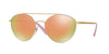 Vogue VO4023S Irregular Sunglasses  50245R-MATTE PINK/GOLD 56-18-135 - Color Map pink