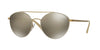 Vogue VO4023S Irregular Sunglasses  996/5A-MATTE CREAM/PALE GOLD 56-18-135 - Color Map ivory