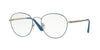 Vogue VO4024 Phantos Eyeglasses  5025-MATTE BLUE/SILVER 52-18-135 - Color Map blue