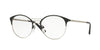 Vogue VO4043 Phantos Eyeglasses  352-BLACK/BRUSHED SILVER 51-18-135 - Color Map black