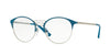 Vogue VO4043 Phantos Eyeglasses  5005-PETROLEUM/BRUSHED SILVER 49-18-135 - Color Map green