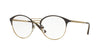 Vogue VO4043 Phantos Eyeglasses  997-BROWN/BRUSHED PALE GOLD 49-18-135 - Color Map brown
