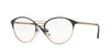 Vogue VO4043 Phantos Eyeglasses  999-ANTHRACITE/BRUSHED PALE GOLD 51-18-135 - Color Map grey