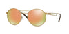 Vogue VO4044S Round Sunglasses  848/5R-BRUSHED PALE GOLD 52-20-135 - Color Map gold