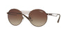 Vogue VO4044S Round Sunglasses  934/13-BRUSHED BURNED BROWN 52-20-135 - Color Map brown