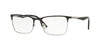 Vogue VO4110 Rectangle Eyeglasses  352-BLACK/SILVER 53-17-140 - Color Map black