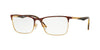 Vogue VO4110 Rectangle Eyeglasses  5078-HAVANA/GOLD 51-17-140 - Color Map havana