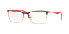 Vogue VO4110 Rectangle Eyeglasses  5102-DARK RED/PALE GOLD 53-17-140 - Color Map red
