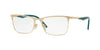 Vogue VO4110 Rectangle Eyeglasses  848-MATTE PALE GOLD/PALE GOLD 53-17-140 - Color Map gold