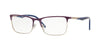 Vogue VO4110 Rectangle Eyeglasses  965S-BRUSHED PLUM/MATTE SILVER 53-17-140 - Color Map violet