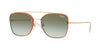 Vogue VO4112S Square Sunglasses  848/8E-PALE GOLD 56-16-135 - Color Map gold