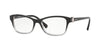 Vogue VO5002B Butterfly Eyeglasses  1880-TOP BLACK GRAD TR GREY 54-16-135 - Color Map black