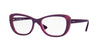 Vogue VO5049 Butterfly Eyeglasses  2430-DARK FUXIA/FUXIA TR/GLITTER 54-17-135 - Color Map purple/reddish