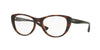 Vogue VO5102 Cat Eye Eyeglasses  2386-TOP DARK HAVANA/TRANSP BROWN 53-17-140 - Color Map havana
