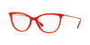 Vogue VO5239 Cat Eye Eyeglasses  2675-OPAL CORAL 54-16-140 - Color Map orange