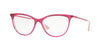 Vogue VO5239 Cat Eye Eyeglasses  2733-TOP TRANSP RED/CRYSTAL 54-16-140 - Color Map red