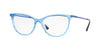 Vogue VO5239 Cat Eye Eyeglasses  2734-TOP BLUETTE/CRYSTAL 54-16-140 - Color Map blue