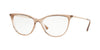 Vogue VO5239 Cat Eye Eyeglasses  2735-TOP BROWN/CRYSTAL 54-16-140 - Color Map brown