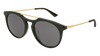 GUCCI GG0320S ROUND / OVAL Sunglasses For Men  GG0320S-001 BLACK GOLD / GREY GOLD 53-21-145