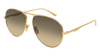 GUCCI GG0334S AVIATOR Sunglasses For Men  GG0334S-001 GOLD GOLD / BROWN SHINY 60-15-145