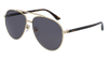 GUCCI GG0043SA AVIATOR Sunglasses For Men  GG0043SA-002 GOLD HAVANA / GREY SHINY 61-14-145