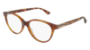GUCCI GG0379O ROUND / OVAL Eyeglasses For Women  GG0379O-004 HAVANA HAVANA / TRANSPARENT LIGHT 52-16-140