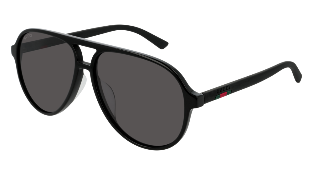 GUCCI GG0423SA AVIATOR Sunglasses For Men  GG0423SA-001 BLACK BLACK / GREY SHINY 60-14-150